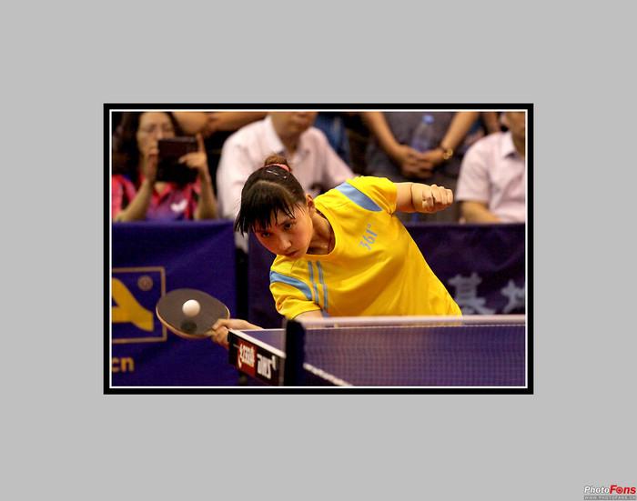 正定国家乒乓球训练基地的比赛