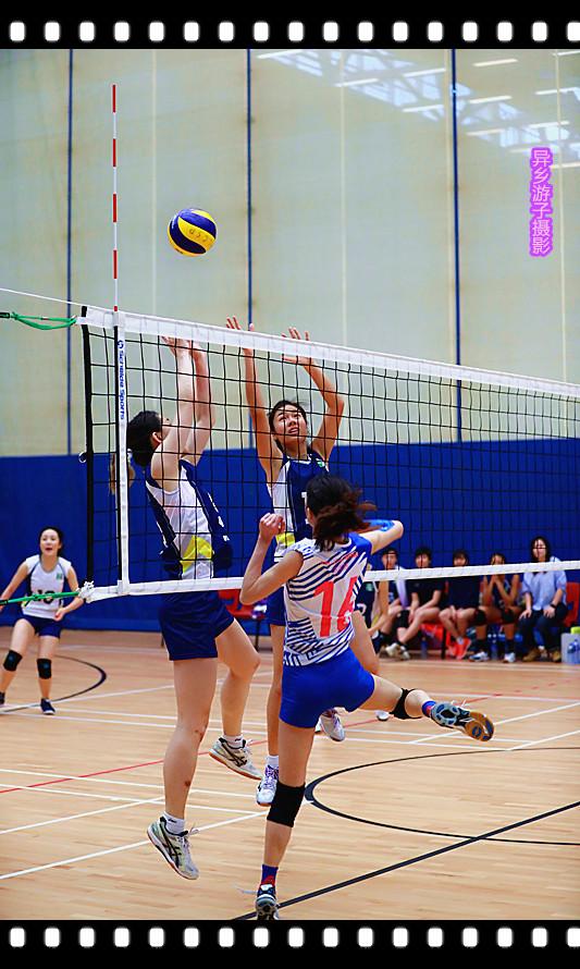 香港运动会____女子排球赛(原创)