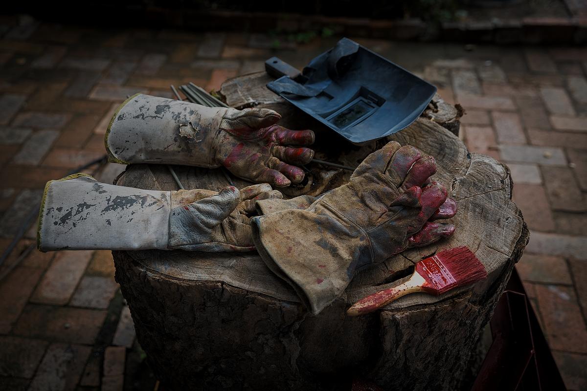 焊工的手套