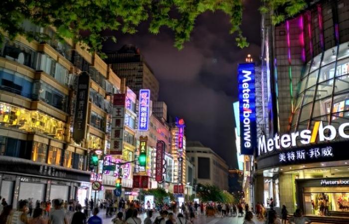 大上海夜景 华为P20Pro的表现